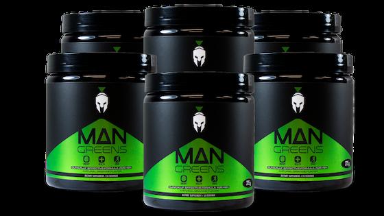 6 Bottles of Man Greens